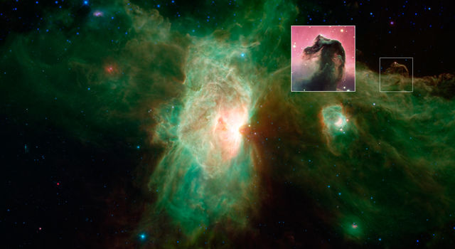 Horsehead Nebula Disappears in Infrared Light