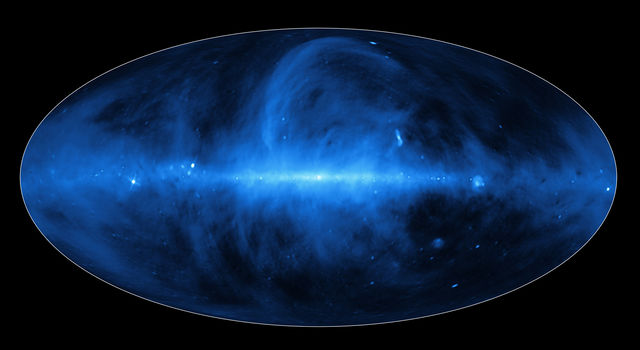 A new, dynamic portrait of our Milky Way galaxy shows a frenzy of gas, charged particles and dust.