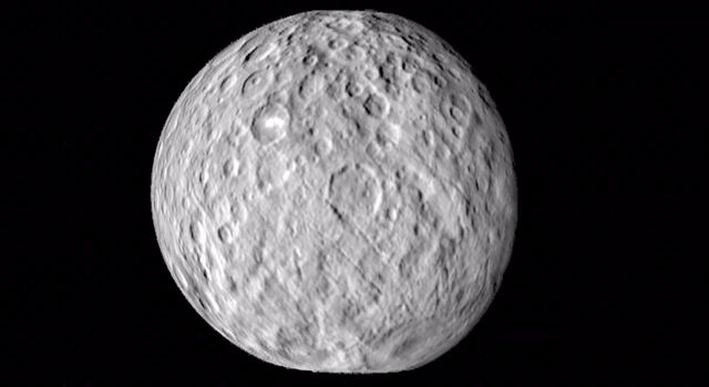 Cratered Surface of Ceres in Motion