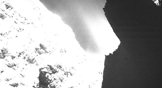 Dark side of comet 67P/Churyumov-Gerasimenko