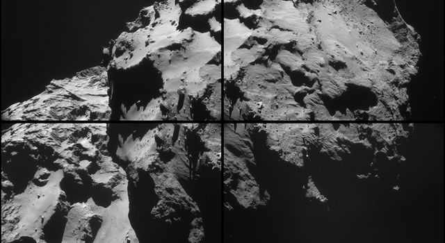 December 2014 View of Rosetta's Destination Comet
