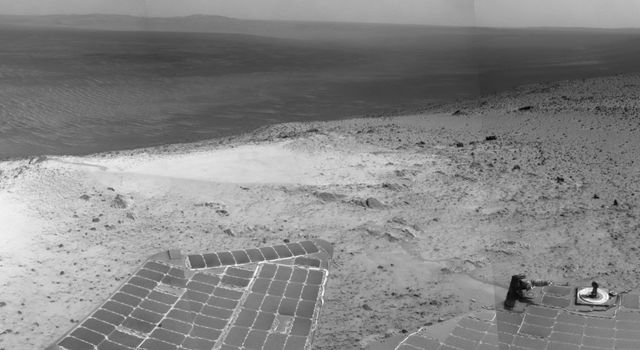 Opportunity's View from Atop 'Cape Tribulation'