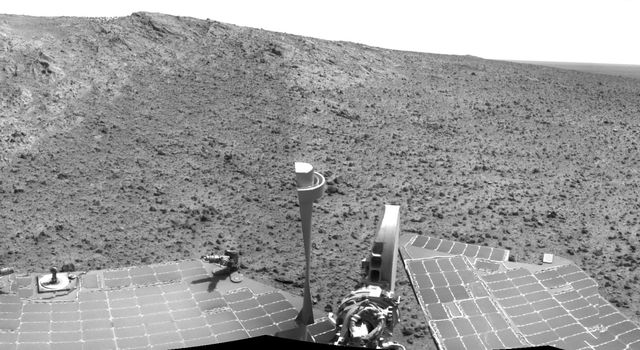 Opportunity's Approach to 'Cape Tribulation' Summit
