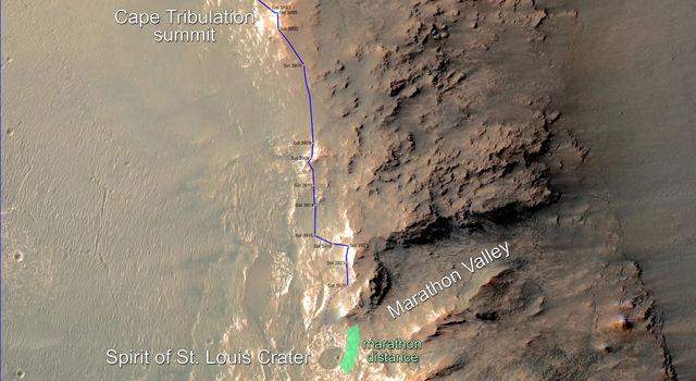 Opportunity Rover Nears Mars Marathon Feat