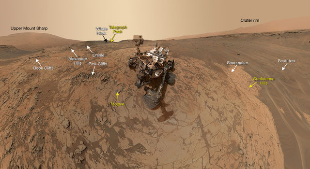 Curiosity Self-Portrait at 'Mojave' Site on Mount Sharp
