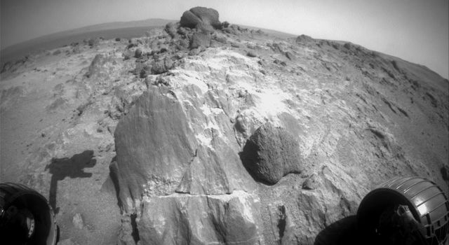 Blocky Rock is Exam Target for Mars Rover Opportunity