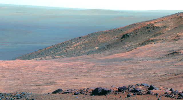 Mars 'Marathon Valley' Overlook (False Color)
