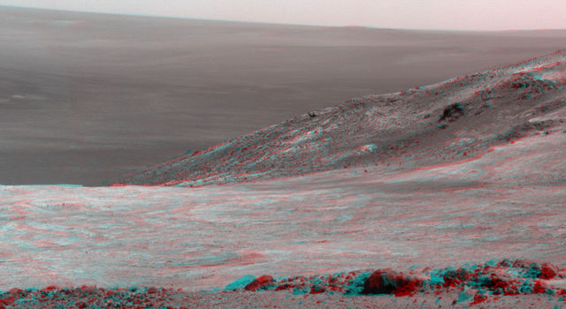 Mars 'Marathon Valley' Overlook, in Stereo