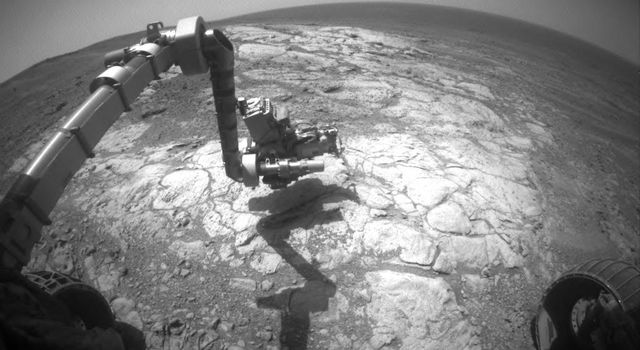 Mars Rover Opportunity Examines Bright 'Athens'