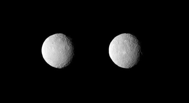 NASA's Dawn spacecraft obtained these uncropped images of dwarf planet Ceres