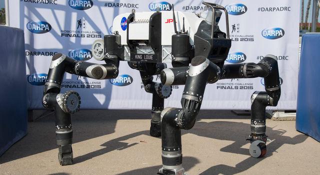 RoboSimian at DARPA Robotics Challenge