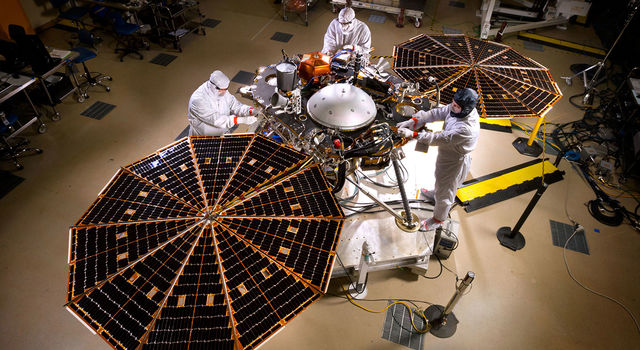 Solar arrays on NASA's InSight lander