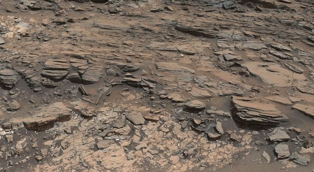 Geological Contact Zone Near 'Marias Pass' on Mars