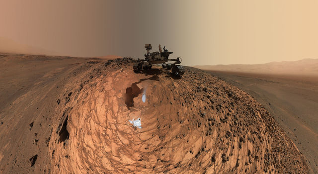 Curiosity Low-Angle Self-Portrait at 'Buckskin' Drill Site