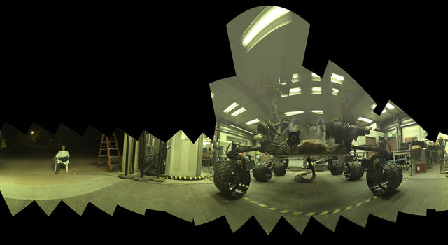 Test at JPL Prepares for Mars Rover's Low-Angle Selfie