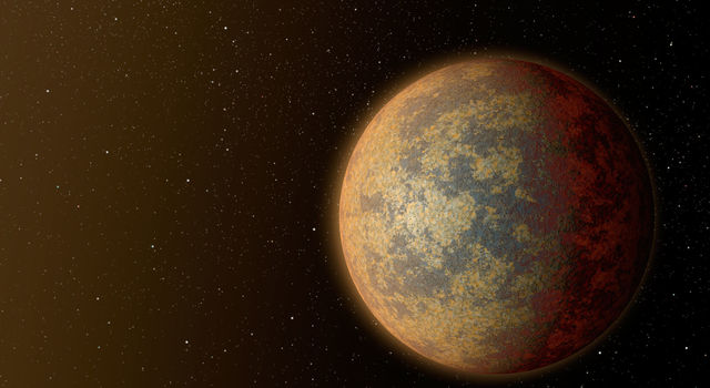 This artist's rendition shows one possible appearance for the planet HD 219134b