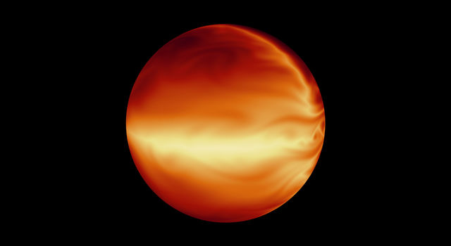 Simulated Atmosphere of a Hot Gas Giant