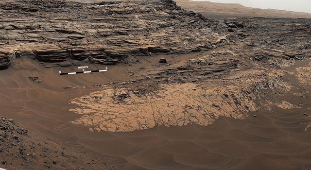 'Marias Pass,' Contact Zone of Two Martian Rock Units