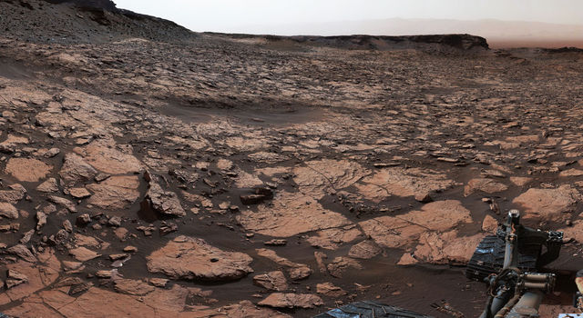 Panorama of Entrance to 'Murray Buttes' on Mars