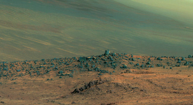 Panorama of 'Wharton Ridge' on Mars (Enhanced Color)