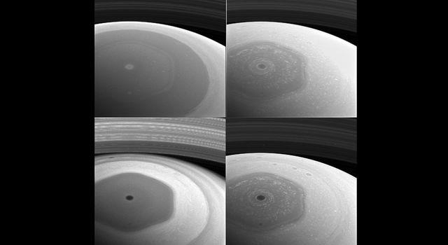 Saturnian Hexagon Collage
