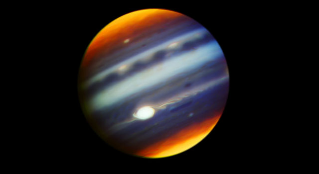False-color infrared image of Jupiter