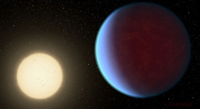 Illustration of super-Earth exoplanet 55 Cancri e