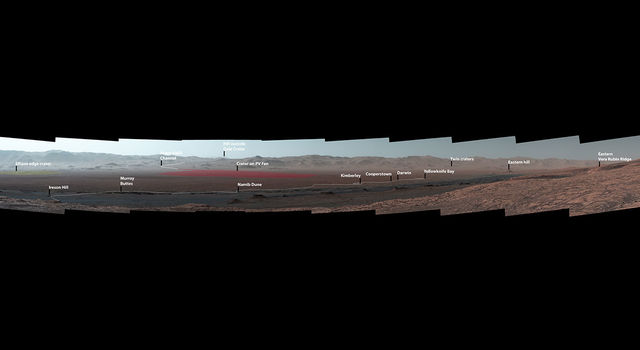 Vera Rubin Ridge on Mars