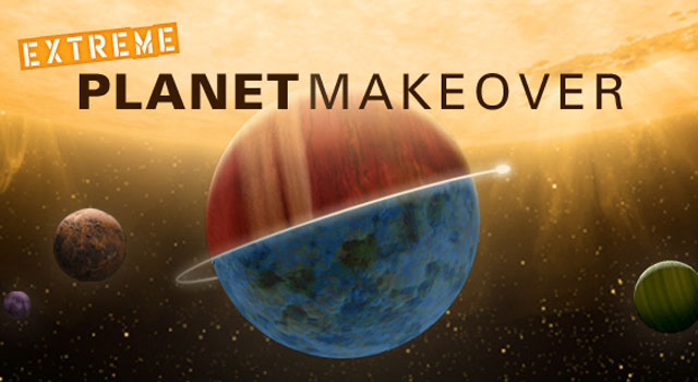 Extreme planet makeover interactive feature. Image credit: NASA/JPL-Caltech