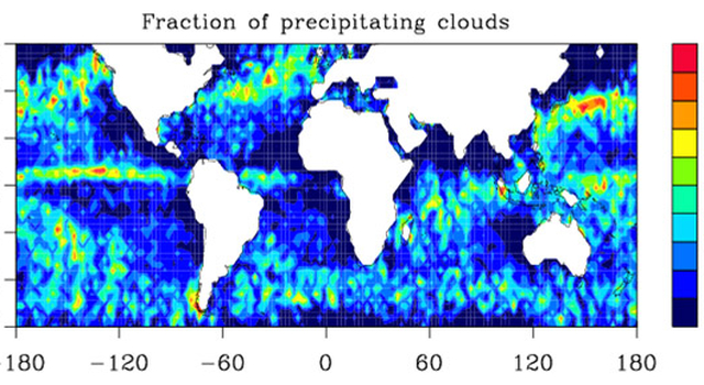 CloudSat data showing precipitation