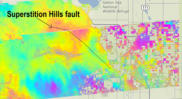 Superstition Hills fault movement