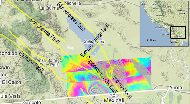 Southern California UAVSAR measurements