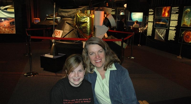 JPL employee Alice Wessen and daughter Raina