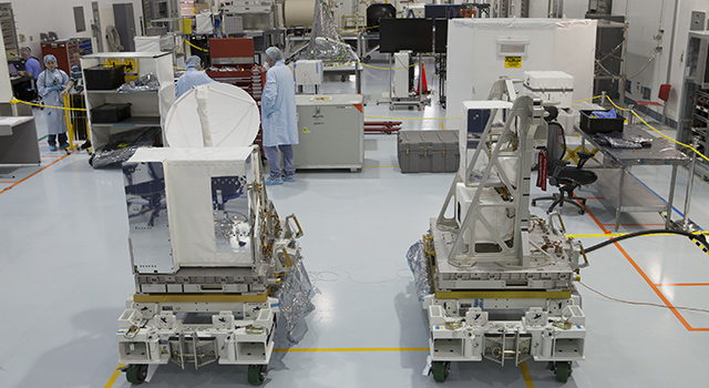 Components of NASA's International Space Station-RapidScat instrument