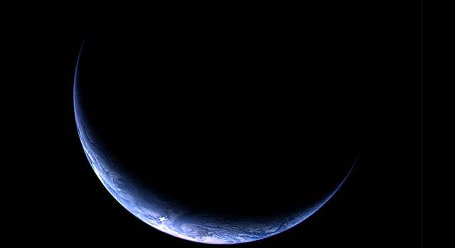 A view of Earth from the Rosetta spacecraft