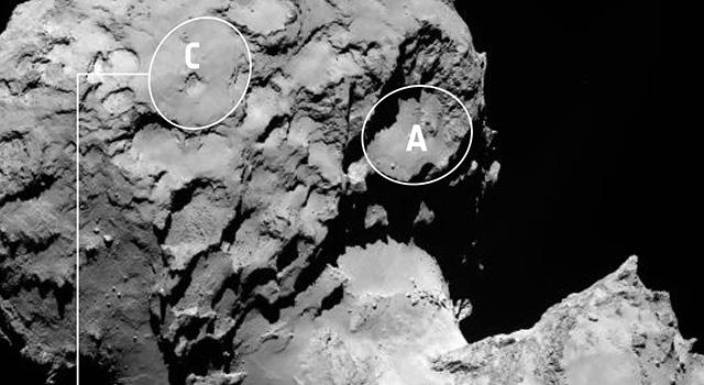 Rosetta Lander's Backup Landing Site