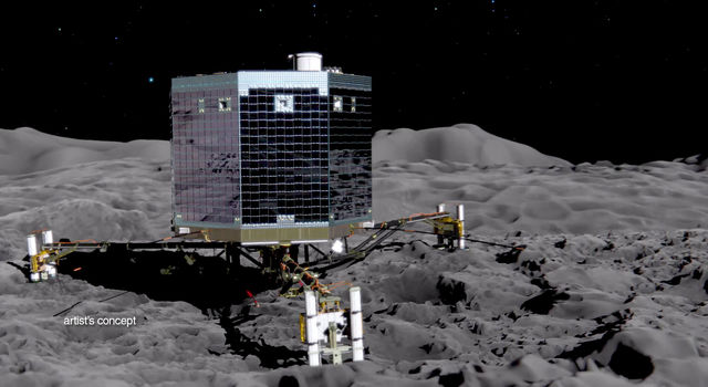 Philae's descent and science of the surface