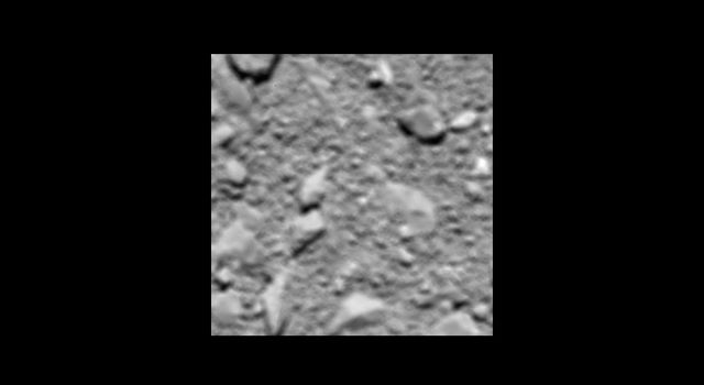 Rosetta's last image of Comet 67P/Churyumov-Gerasimenko, taken shortly before impact