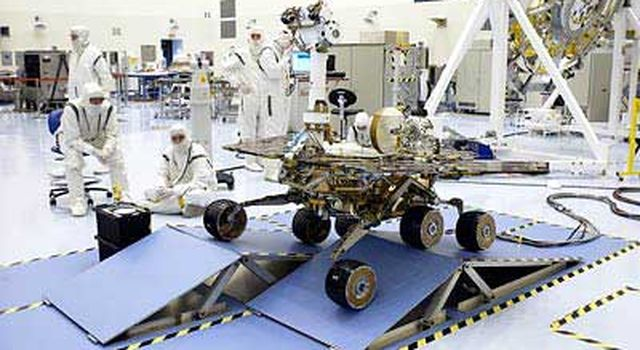 rover's mobility system is tested with a variety of ramps.
