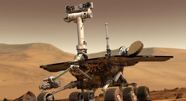 Artist's rendering of the Mars 2003 Rover