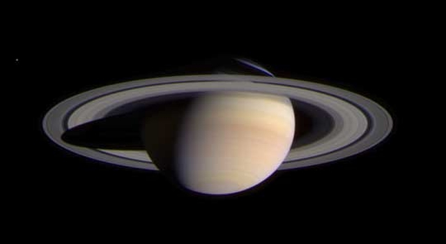Saturn, imaged by Cassini