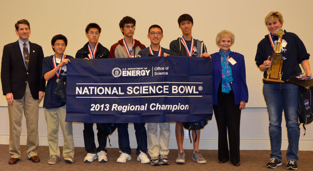 University High School Wins 2013 Los Angeles Regional Science Bowl at JPL