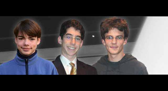 From left to right: Alexander Sharpe, Joshua Leviton and Alistair McGregor are the winners of the 2007 Cassini Scientist-for-a-Day contest.