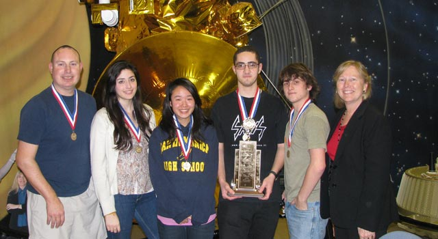 Winners from the 2009 regional Science Bowl