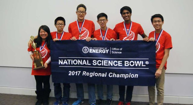 Troy High School won the National Science Bowl Regional competition
