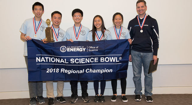 University High School took first place at the regional Science Bowl competition