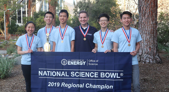 Science Bowl team from University High School in Irvine, California