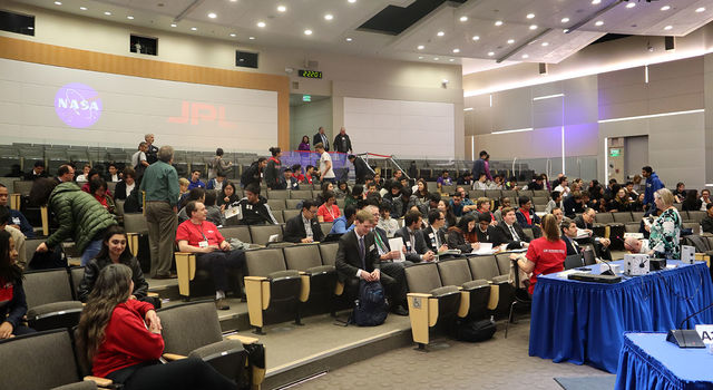 Students, coaches, parents and judges gathered in Pickering Auditorium