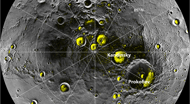 A Mosaic of MESSENGER Images of Mercury's North Polar Region