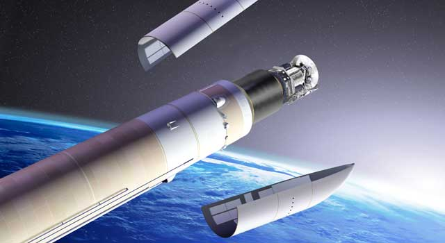 Artist concept of the rocket carrying Herschel and Planck